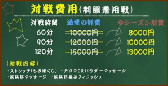 対戦費用(制服着用戦)